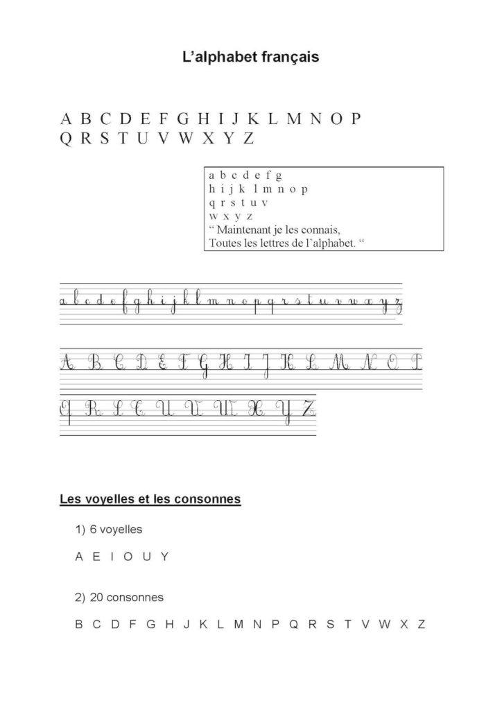 l'alphabet avec chanson image